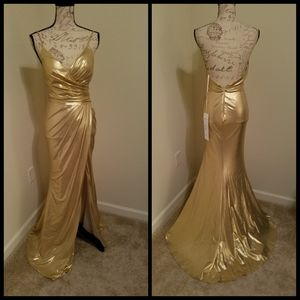 Gold formal dress 2